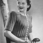 free vintage cardigan knit pattern