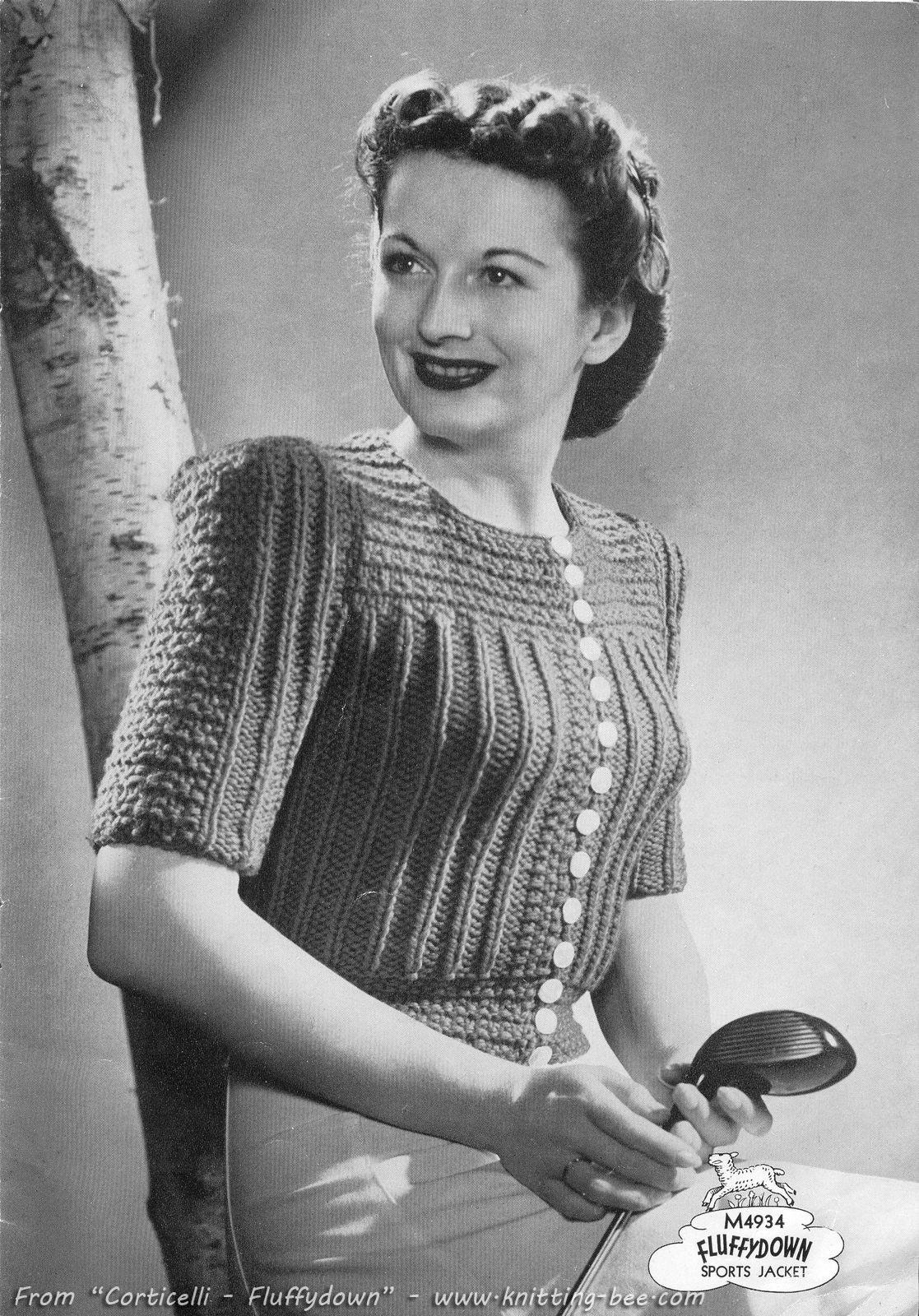 Sports Jacket Vintage Knit