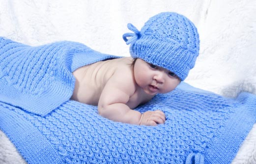 Mock Eyelet Baby Hat And Blanket Knitting Bee