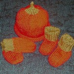 Pumpkin Baby Set knit