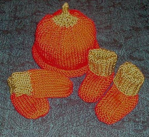 Pumpkin Baby Set knit