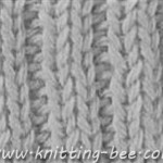 Free rib stitch knitting pattern.