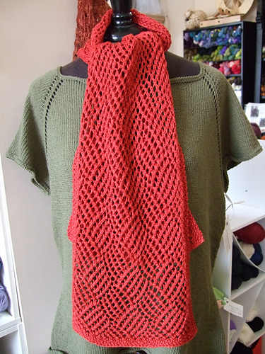 lace gridwork scarf