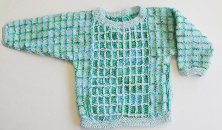 Optical Illusions Baby Sweater ⋆ Knitting Bee