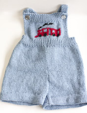 Free baby overall knit pattern here: link