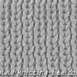 Free rib stitch knitting pattern