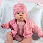 baby jacket and hat knitting pattern