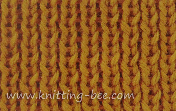 single rib stitch pattern