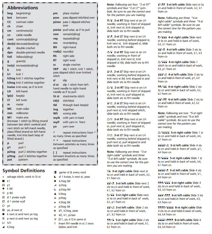 Knitting Chart Symbols Pdf : Russian to english knitting chart translation bee