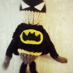 batman knitted doll