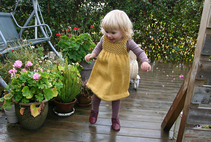 knitted dress for toddler