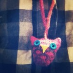 knitted owl necklace