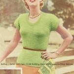 vintage 50's sweater pattern