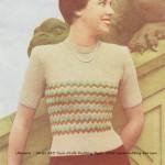 free 1950's knitting pattern vintage