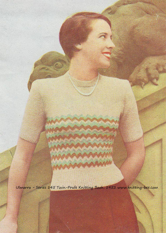 Ulmarra Vintage Sweater Pattern Knitting Bee
