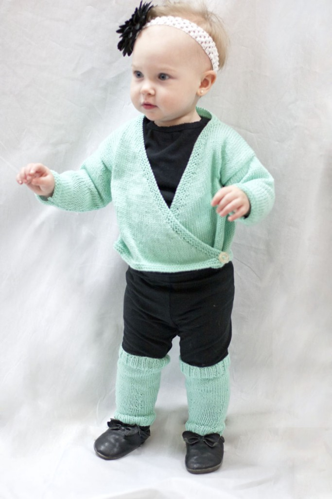 Baby Ballet Wrap and Legwarmers