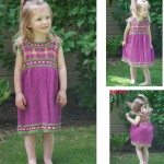 girls plaid dress knitting pattern