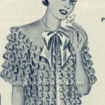 Ruffled vintage jacket knit pattern