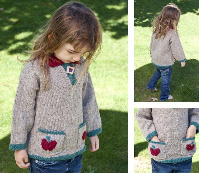 apple girl sweater knit pattern