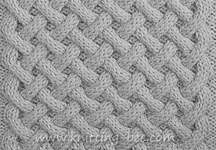 Basket Weave Aran Stitch ⋆ Knitting Bee