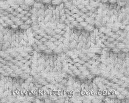 Double Seed Stitch Knitting Pattern ⋆ Knitting Bee