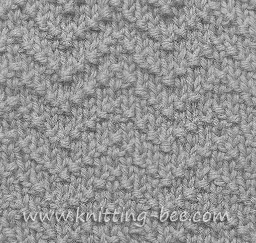 Chevron Seed Stitch Knitting Pattern