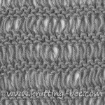Drop Stitch Garter Knitting Pattern