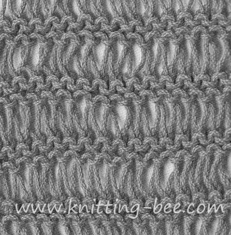Knitting Dropped Stitch Help : Dishcloth stitch