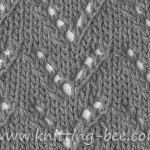 free eyelet chevron knitting stitch