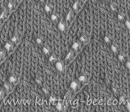 Eyelet Chevrons Knitting Bee