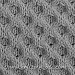 honeycomb aran stitch
