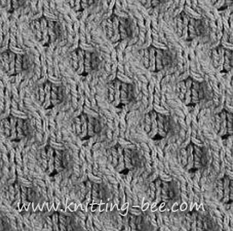 KNITTING HONEYCOMB PATTERN 1000 Free Patterns