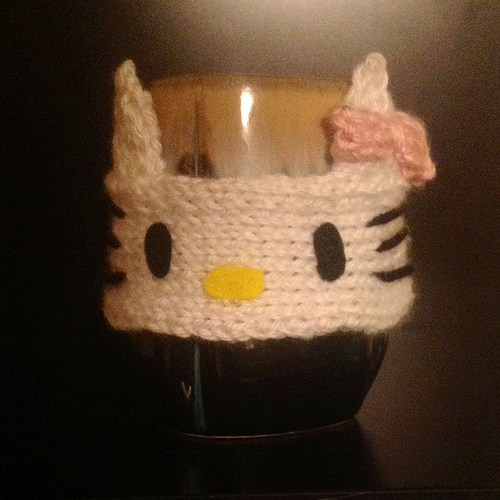 Hello Kitty Coffee Sleeve ⋆ Knitting Bee