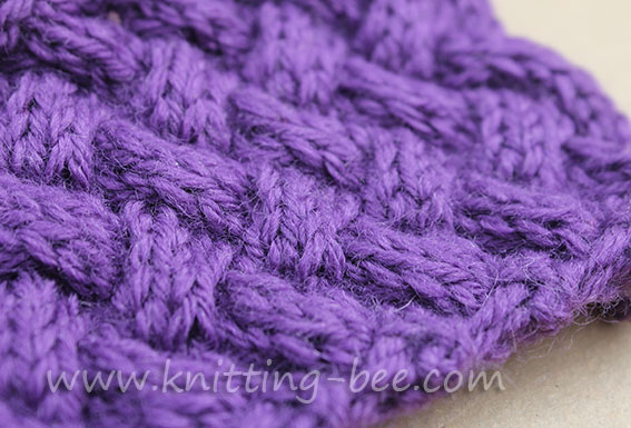 Diagonal Basketweave Cable Stitch Medium Knitting Bee