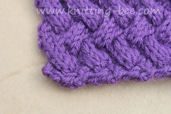Diagonal Basketweave Cable Stitch – Medium ⋆ Knitting Bee