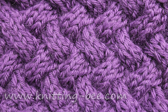 Diagonal Basketweave Cable Stitch – Medium