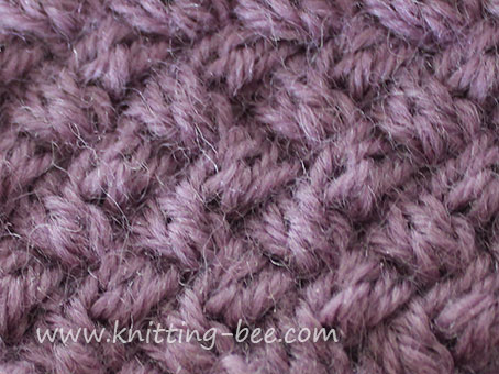 Diagonal Basketweave Cable Stitch - Small ⋆ Knitting Bee