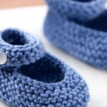 knitted baby janes