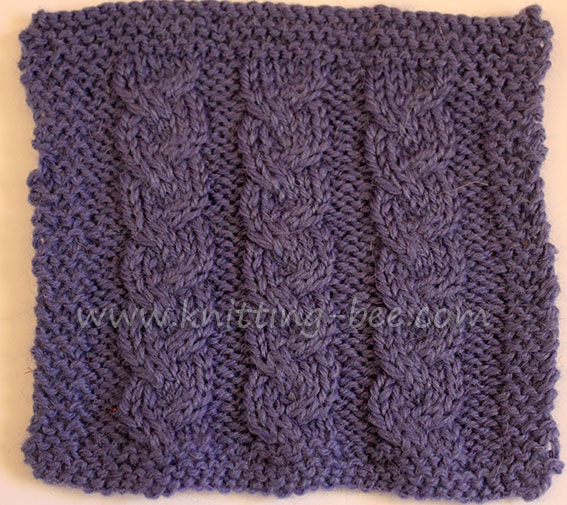 Braided Cable Dishcloth Pattern Knitting Bee