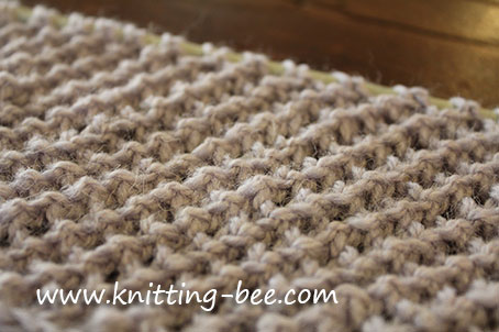 Diagonal Eyelet Mesh Stitch Knitting Bee