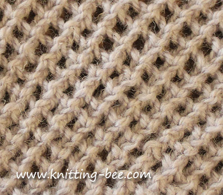 Knitting Bee Stitch Library : How To Knit A Lacey Eyelet Rib Pattern Apps Directories