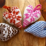 knitted colorwork heart