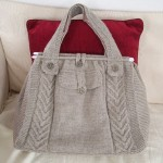 knitted cable tote pattern