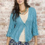 free lace knitted jacket