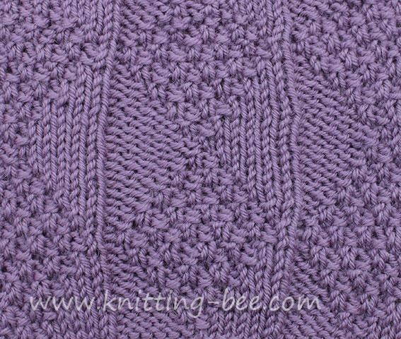 Light and Dark Diamonds Knitting Stitch