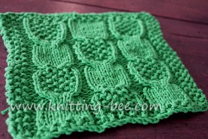 Knitted Moss Stitch Dishcloth Pattern : BEE SKEP DISHCLOTH FREE PATTERN - Free Patterns