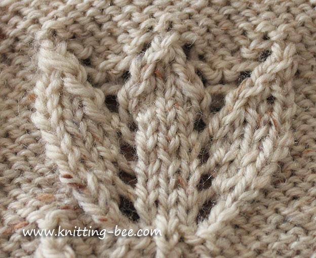 Tuilp Motif Free Knitting Pattern 2 Knitting Bee