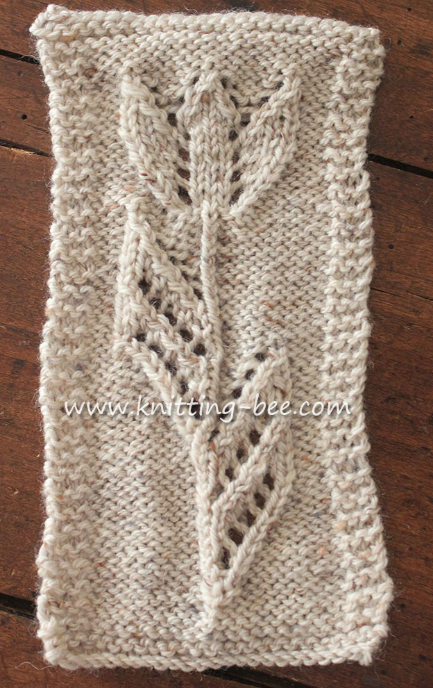 Knitting Patterns Free : tuilp-motif-free-knitting-pattern ? Knitting Bee