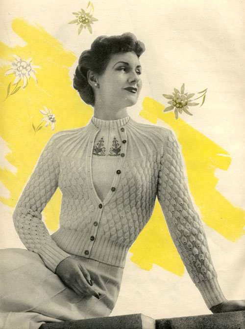 Old Knitting Pictures : Midsummer white vintage knitting pattern ⋆ bee