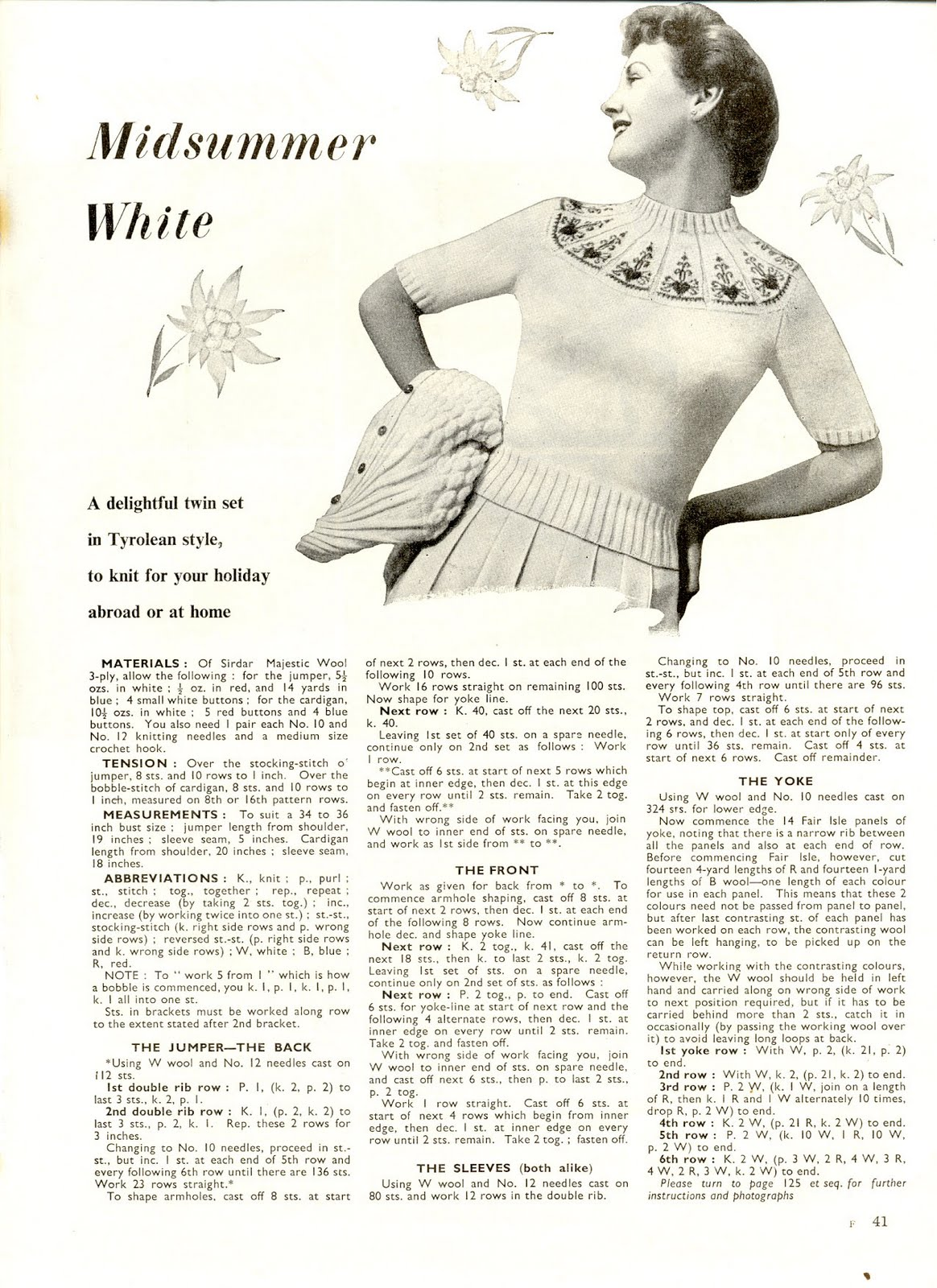 Vintage Knitting Patterns : vintage-knit-pattern-2-free ? Knitting Bee
